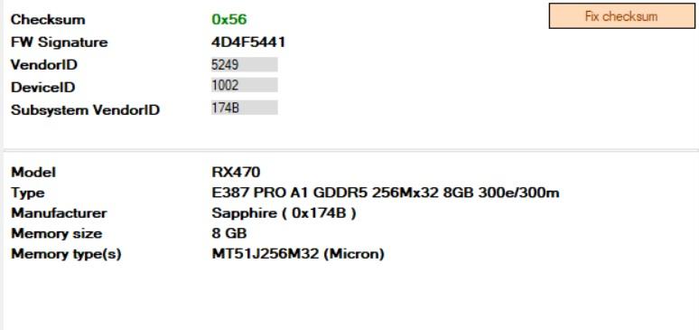 Mining Bios Sapphire Mining RX 470 8GB Micron - Performance timings - GPU  Mining Bios Mod Database Shop 💲⛏